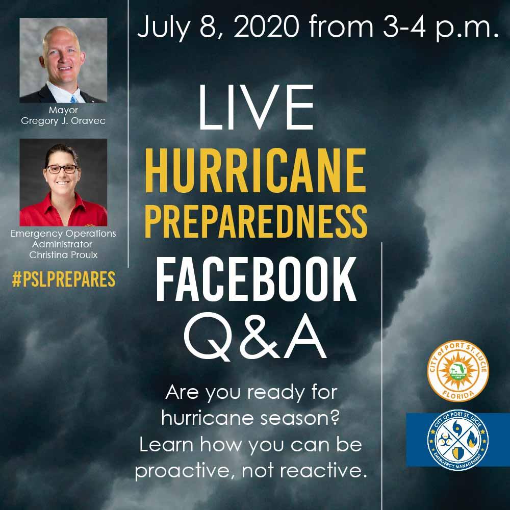 Facebook Live Q&A: Hurricane Preparedness