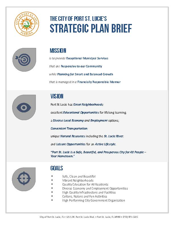 Strategic Plan in Brief
