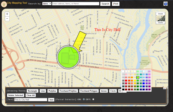 city mapping tool