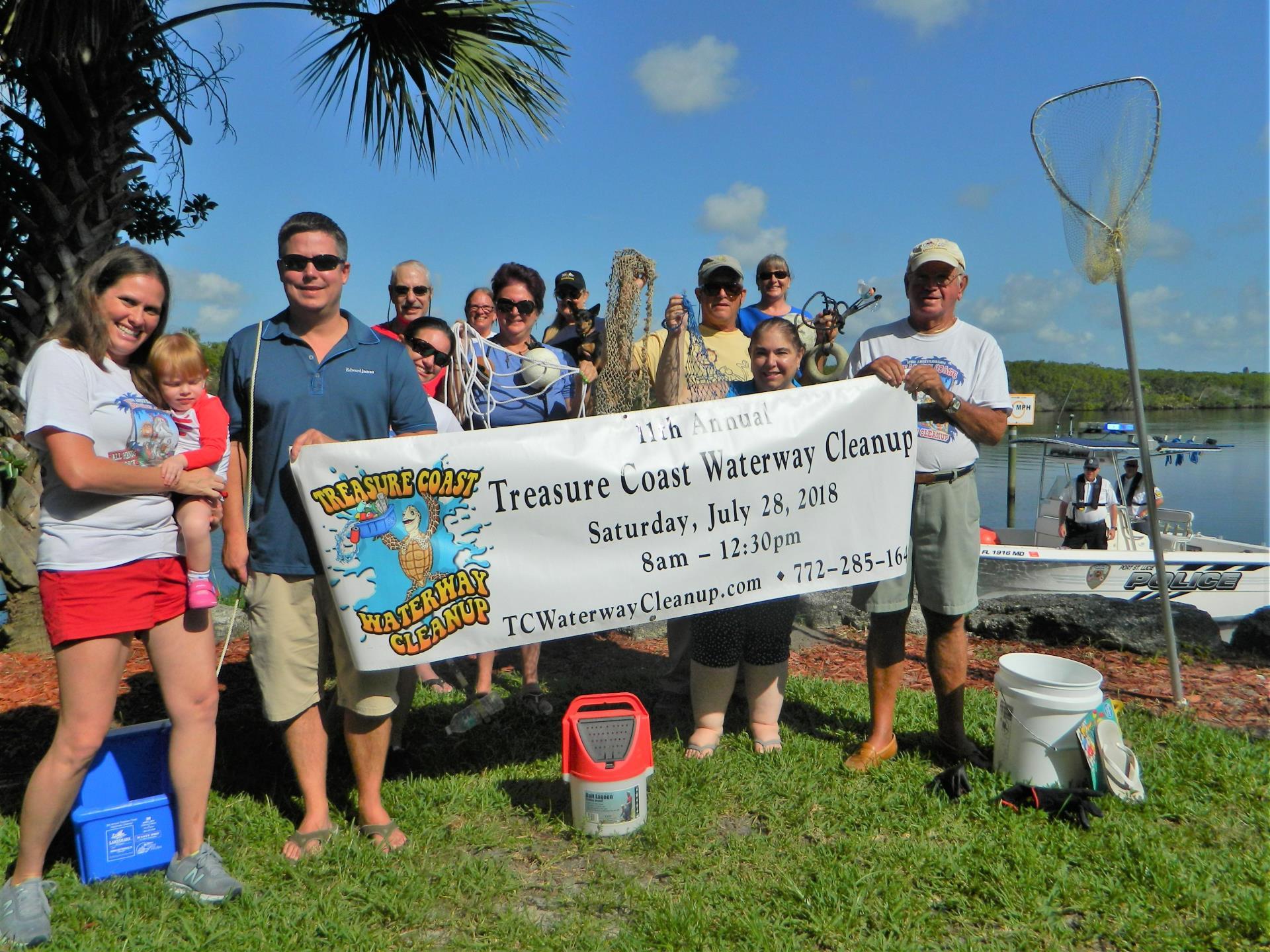 2018 TC Waterway Cleanup Team Photo