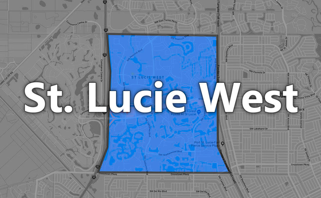 St. Lucie West Map Thumbnail