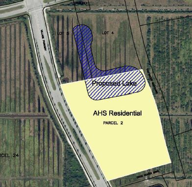 AHS Residential square aerial map with yellow box