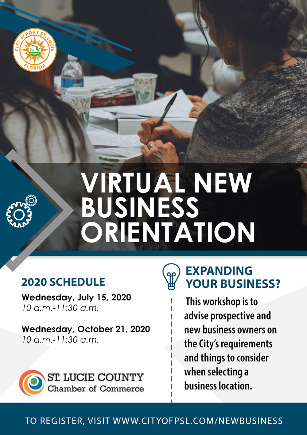 Virtual New Business Orientation Flyer 2020