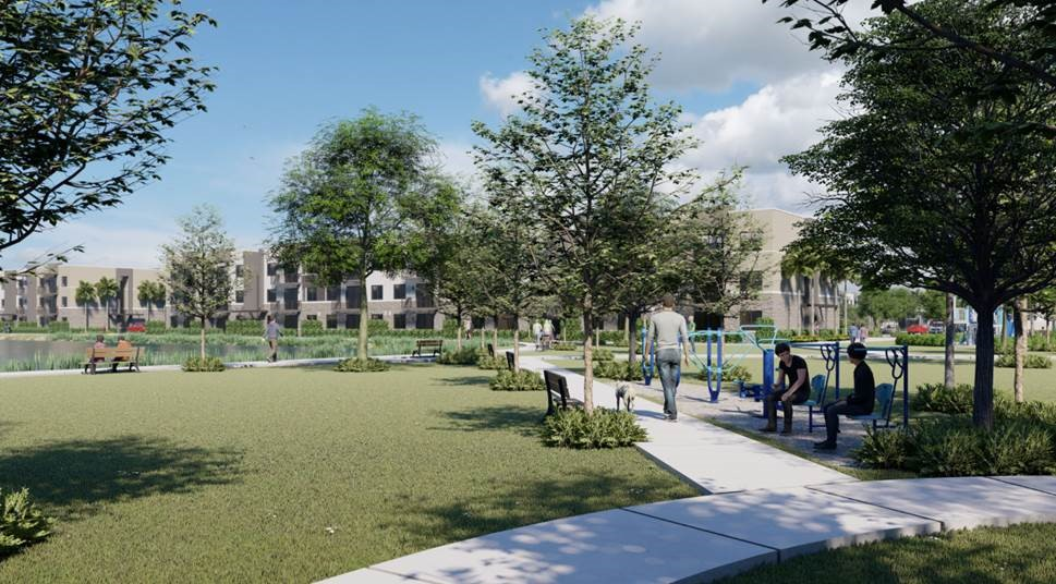 rendering of new apartment complex