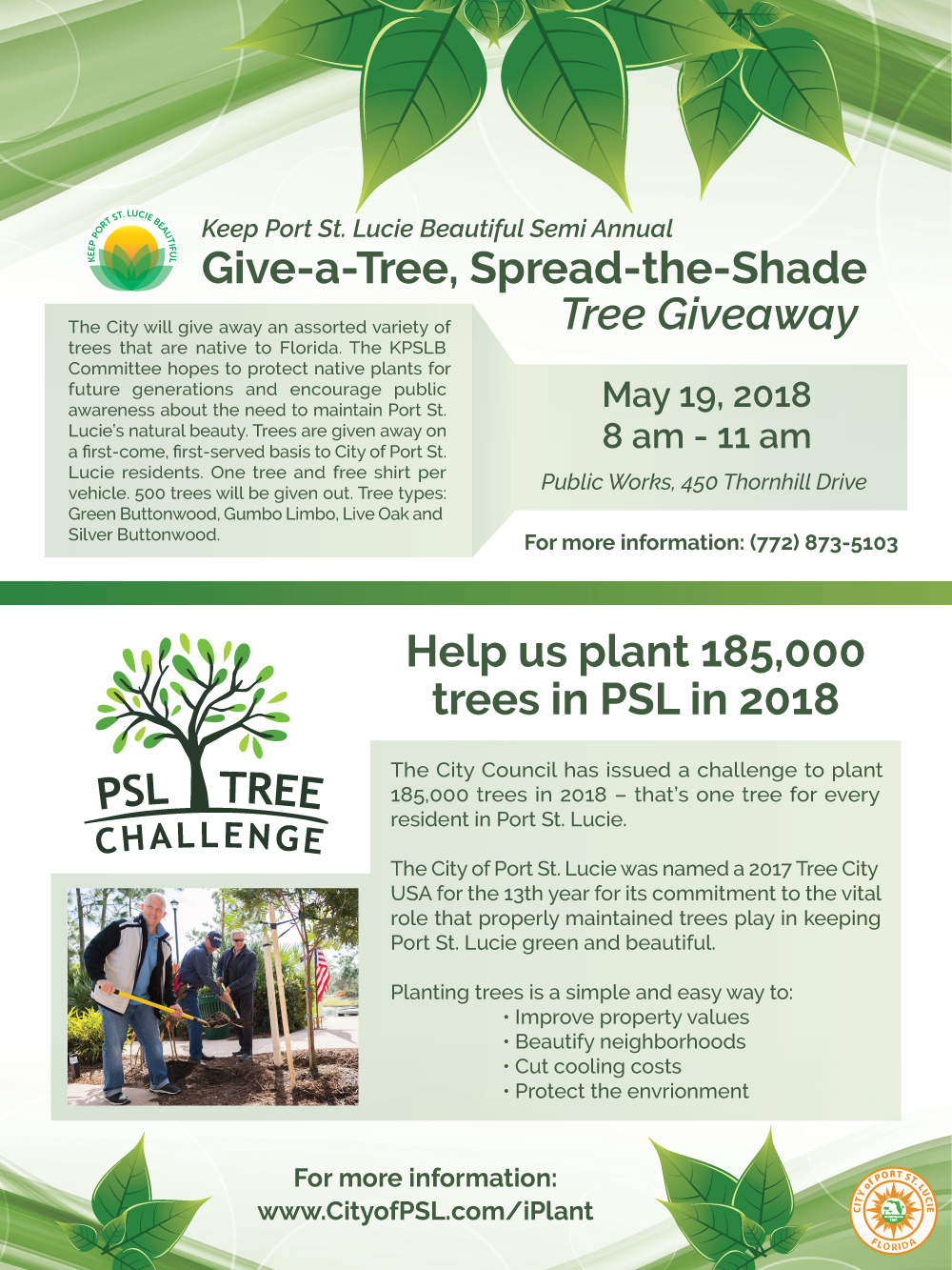Tree Challenge & Tree Giveaway Flyer