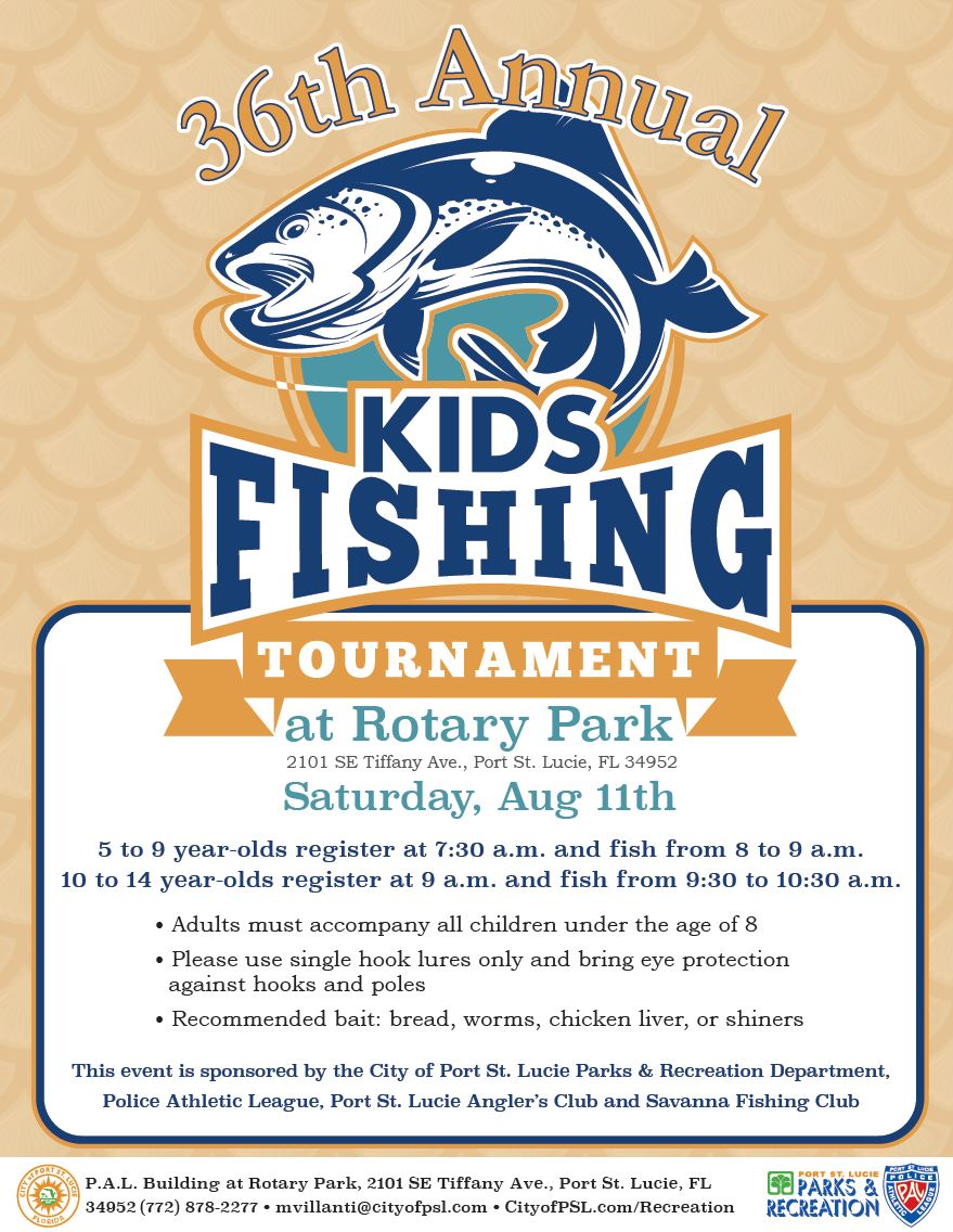 Kids Fishing Tournament Flyer