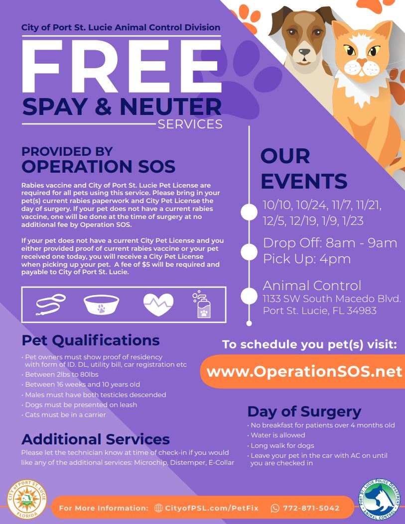Operation SOS Event Flyer