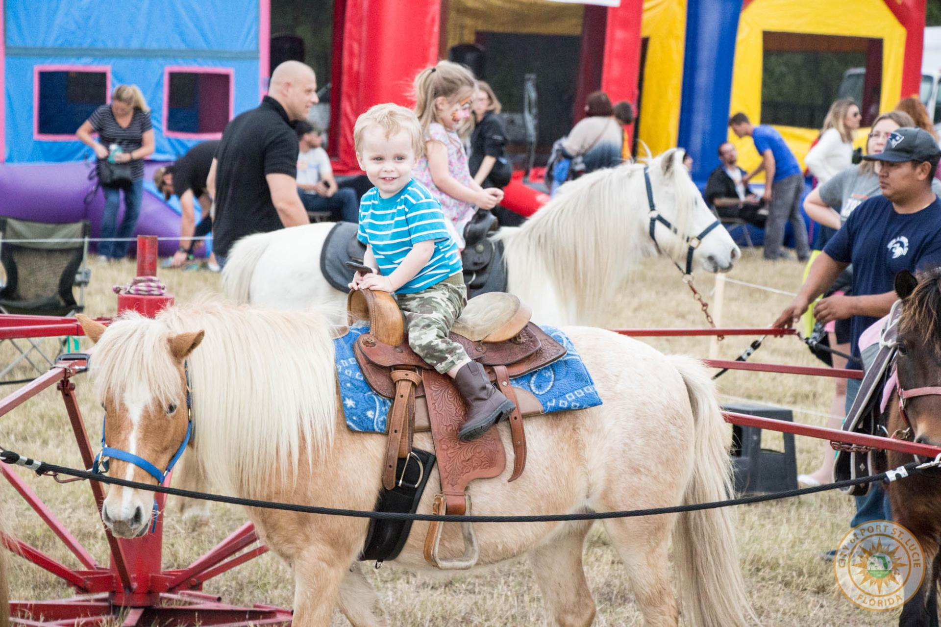 Child on pony ride