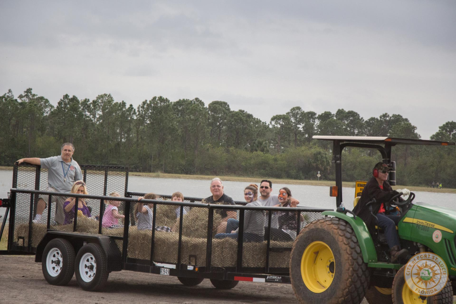 Participants riding the Hayride