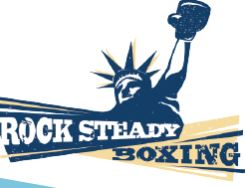 rock stead blue and yellow logo