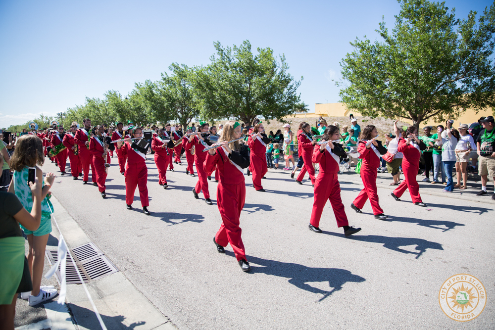 High School band in parade