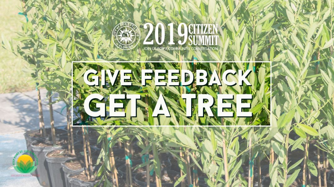 Give Feedback get a Tree