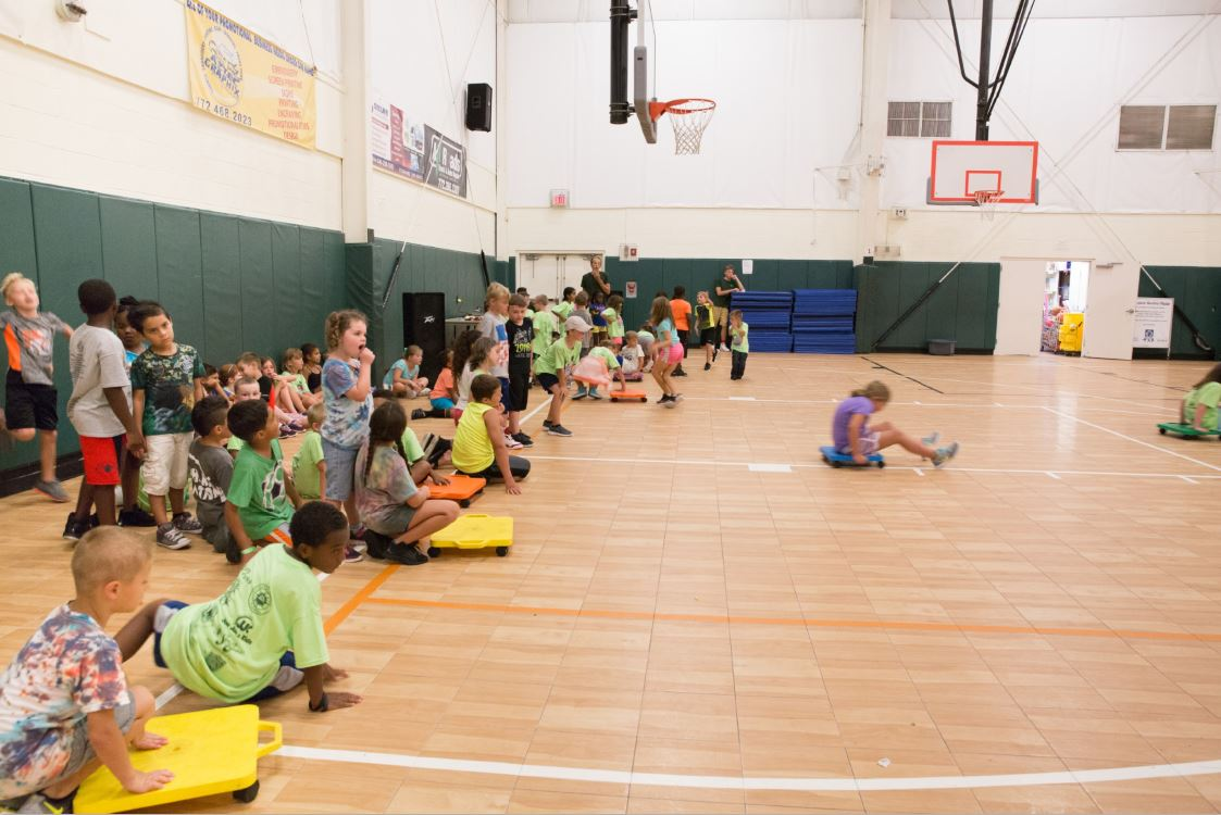 Campers participating in game