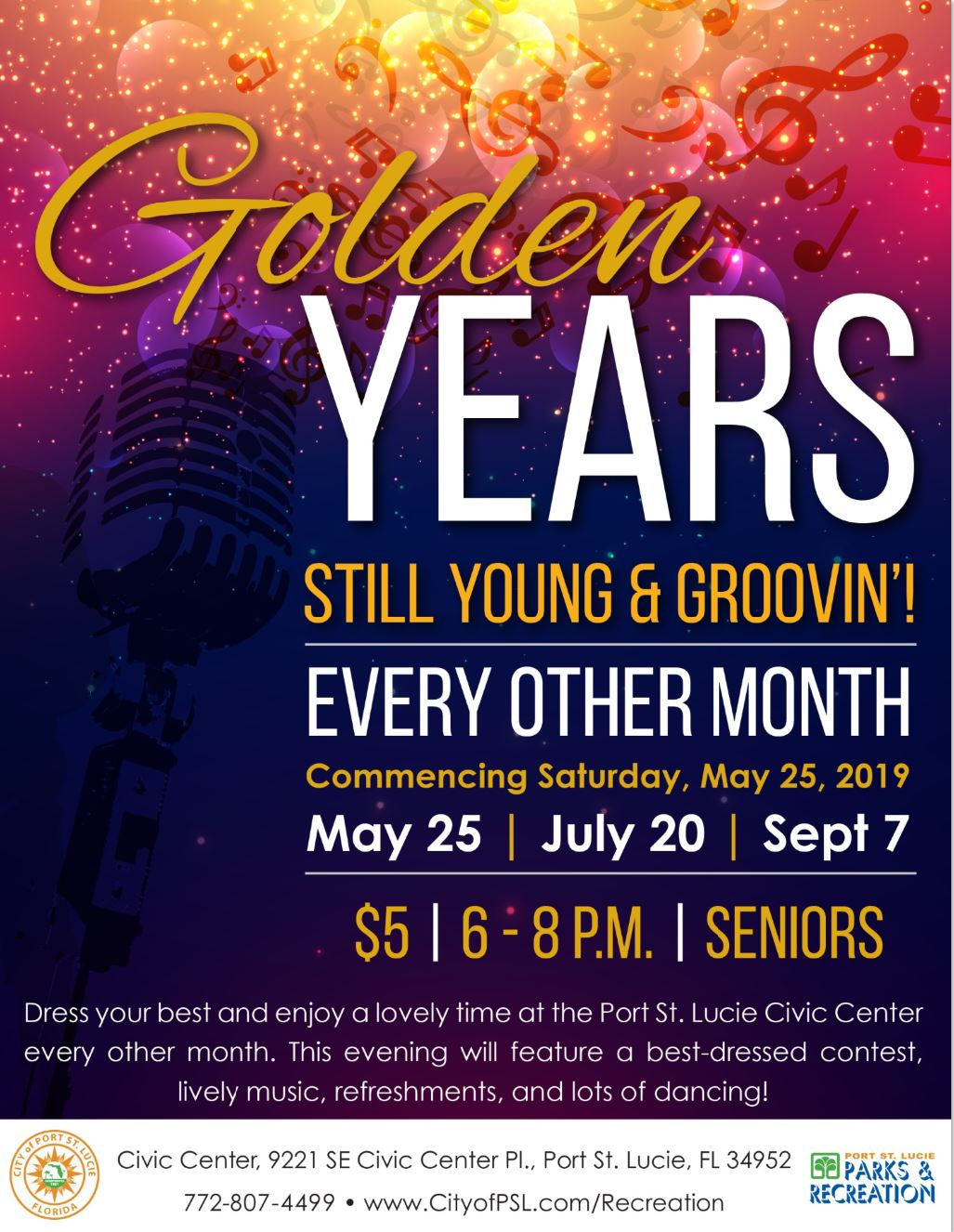 Senior Dance Golden Years Flyer