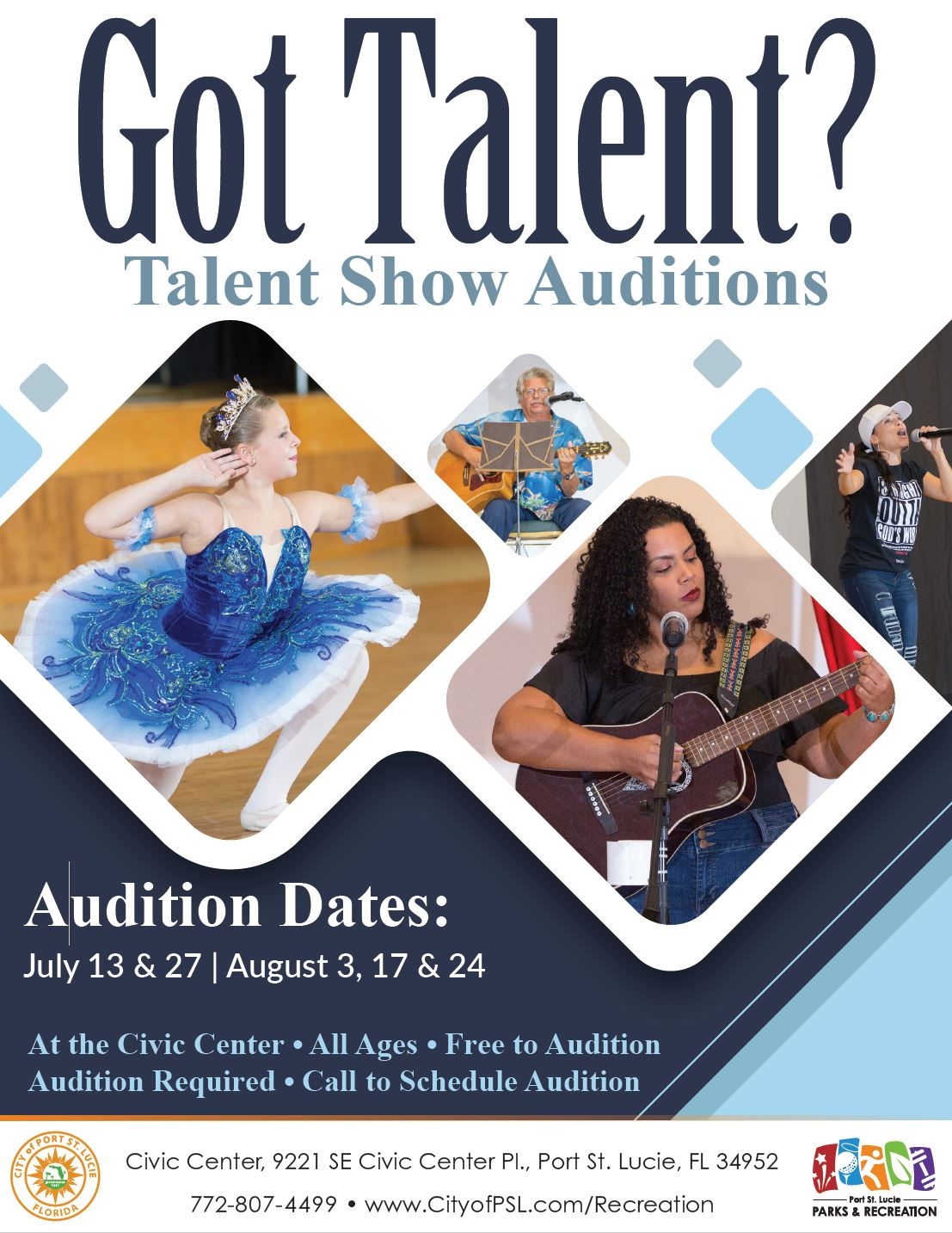 talent show audition flyer 2019
