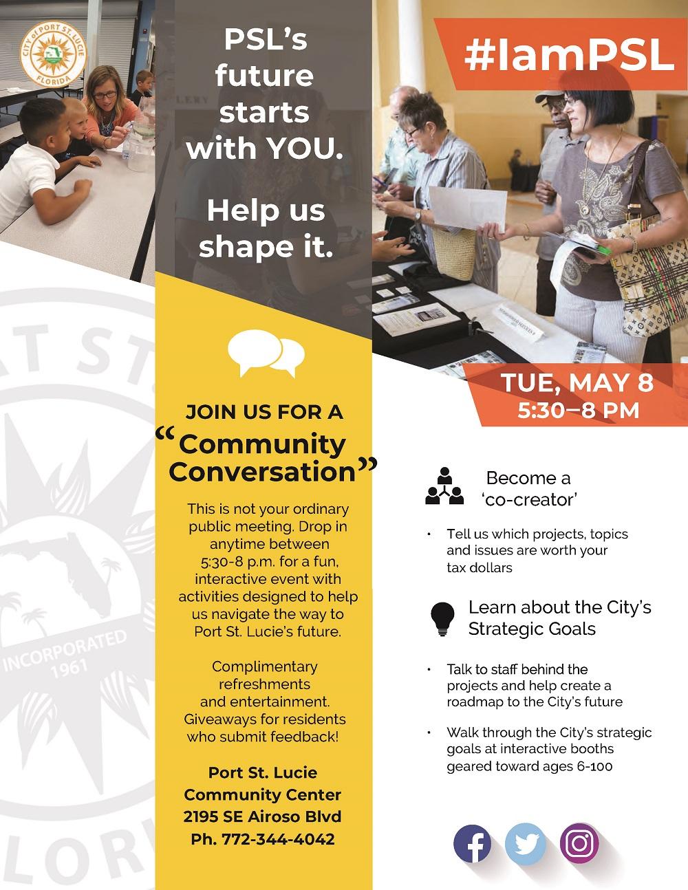 Community Conversation Flyer