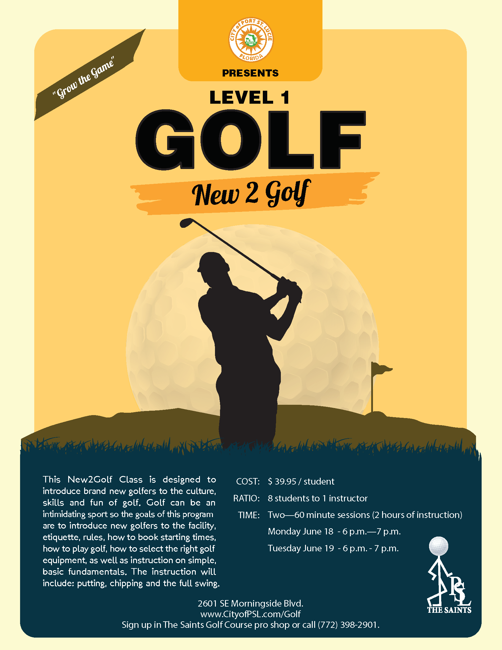 Golf Level 1 Flyer