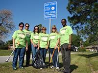 Adopt-A-Street volunteers