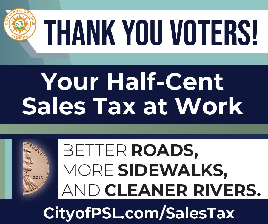 sales tax thank you sign