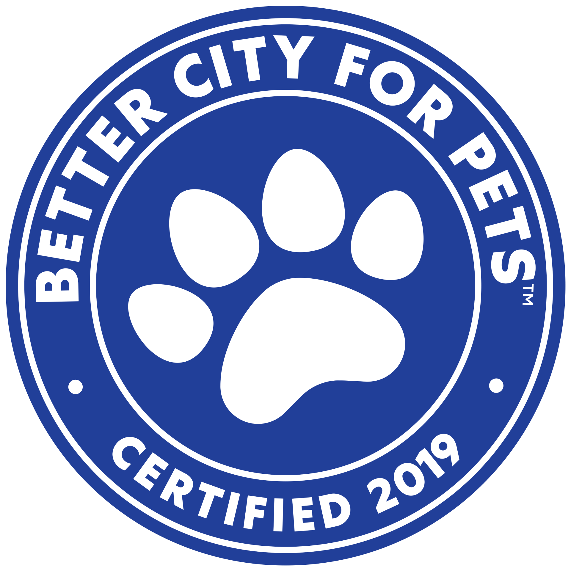 Better Cities for Pets Certified 2019